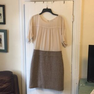Dress with off white top and wool bottom